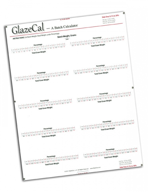 Glaze Cal Calculator