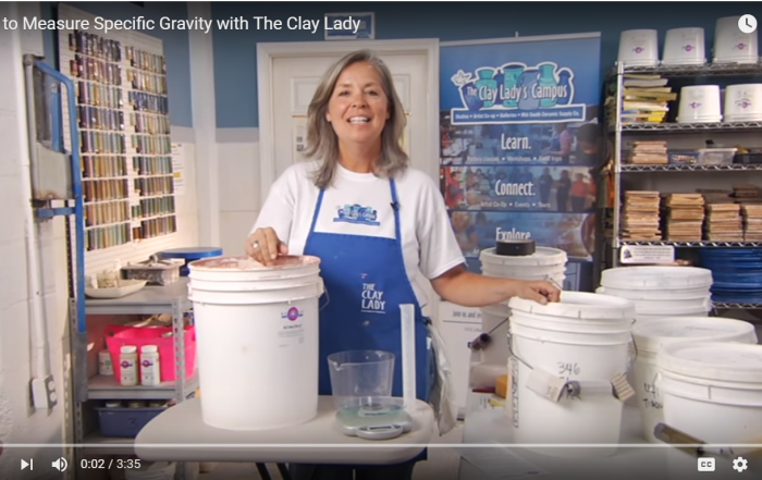 New Video on How to Measure Specific Gravity in Glazes