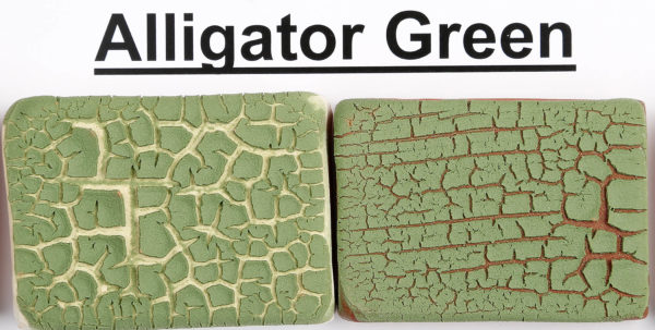 The Clay Lady's Alligator Green Textured Glaze