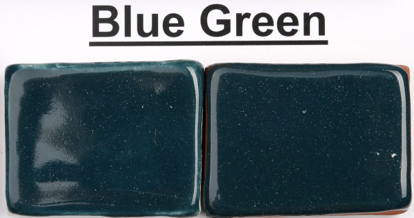 The Clay Lady's Blue Green Low-Fire Glaze