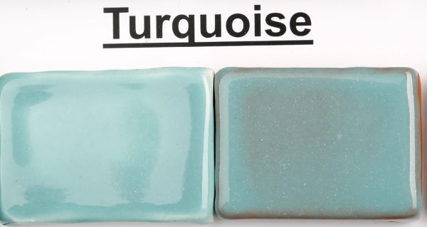 The Clay Lady's Turquoise Low-Fire Glaze
